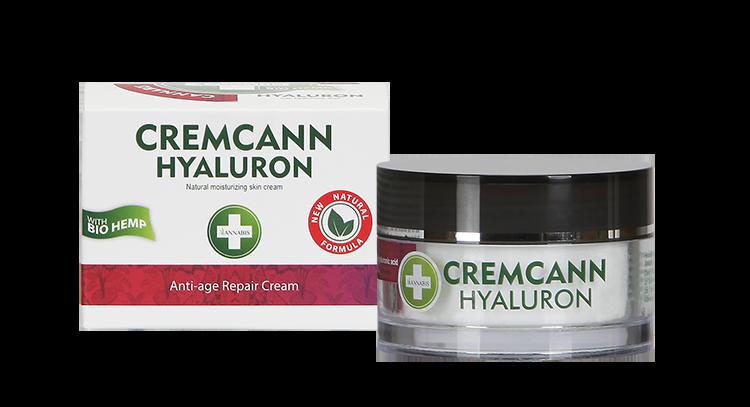 ANNABIS Cremcann Hyaluron konopljina Anti-Age krema za obraz s hialuronsko kislino- 50ml