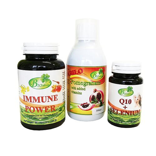 Immune Power + Q10 Selen + darilo sok granatnega jabolka 300ml